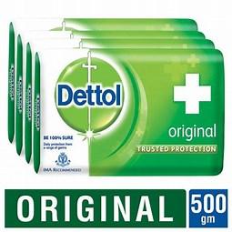 Dettol Original Bath Soap 125 Gm (Pack of 4)
