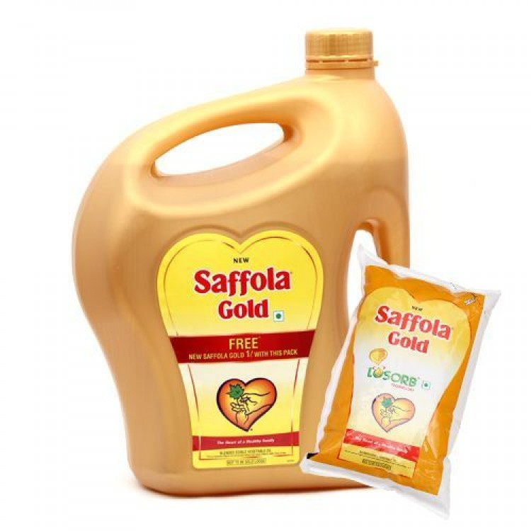 saffola gold 5 ltr with (1ltr free)